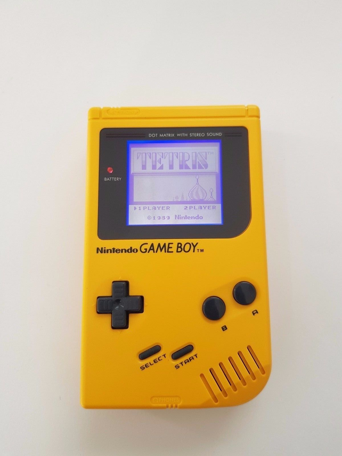 02c11da25b Nintendo Gameboy Original Yellow Play It Load With Backlight And Bivert LCD  Mod
