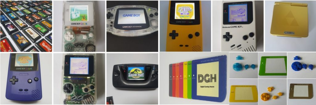 Gameboy Original DMG-01 Clear Yellow Backlight Bivert LCD Mod, Glass Lens -  LSDJ